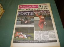 MOTORING NEWS 1990 July 18 British GP, K&N Filters Rally, BTCC,F3,CART